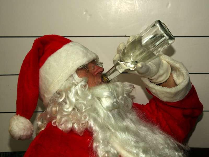 дед мороз пьяный картинки