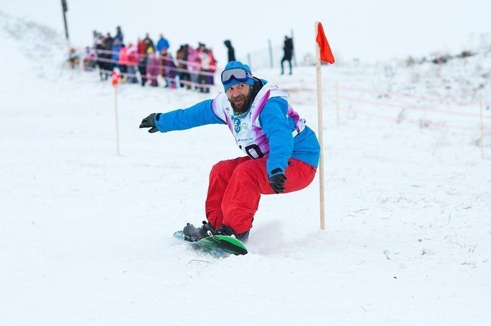 В Урюпинске впервые прошли соревнования по сноуборду