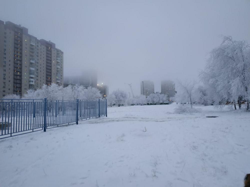 Снегопад накрыл Волгоградскую область
