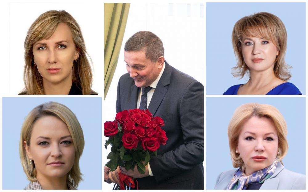 Губернатор предпочитает блондинок: любимые женщины Андрея Бочарова