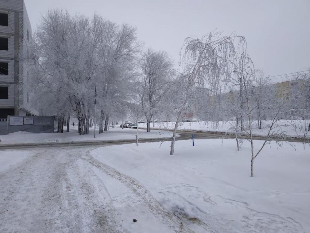 Последний день февраля в Волгограде будет снежным и ветреным
