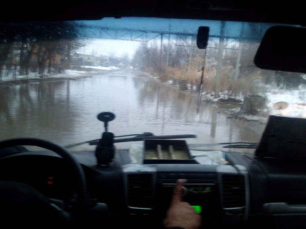 Поселок ВолгоГРЭС ушел под воду на юге Волгограда