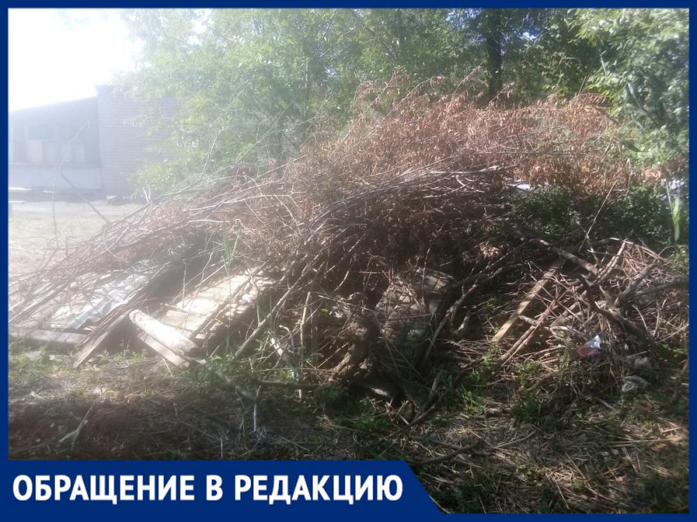 Жители Красноармейского района уже год ждут, пока УК «ЖЭК» уберет свалку