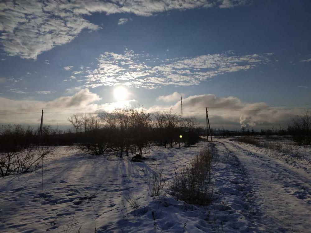 Зима не желает покидать Волгоград