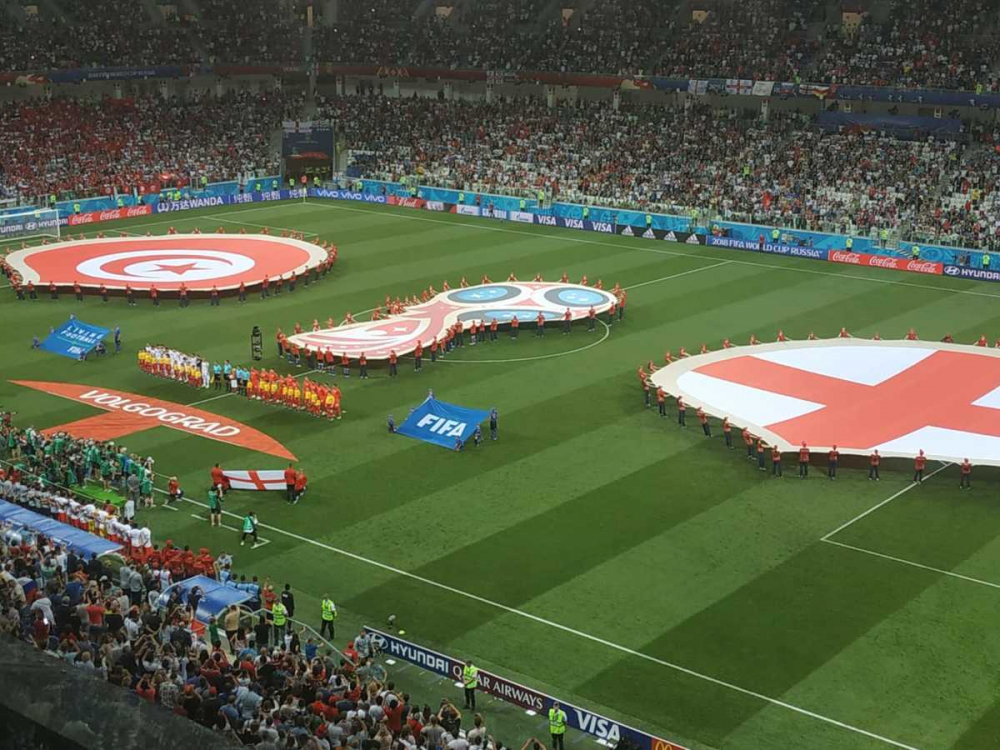 Сборная Англии забила первый гол на «Волгоград Арене»