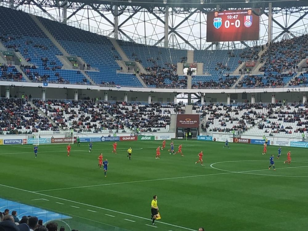 Матч «Ротора» начался с минуты молчания по погибшим в Керчи