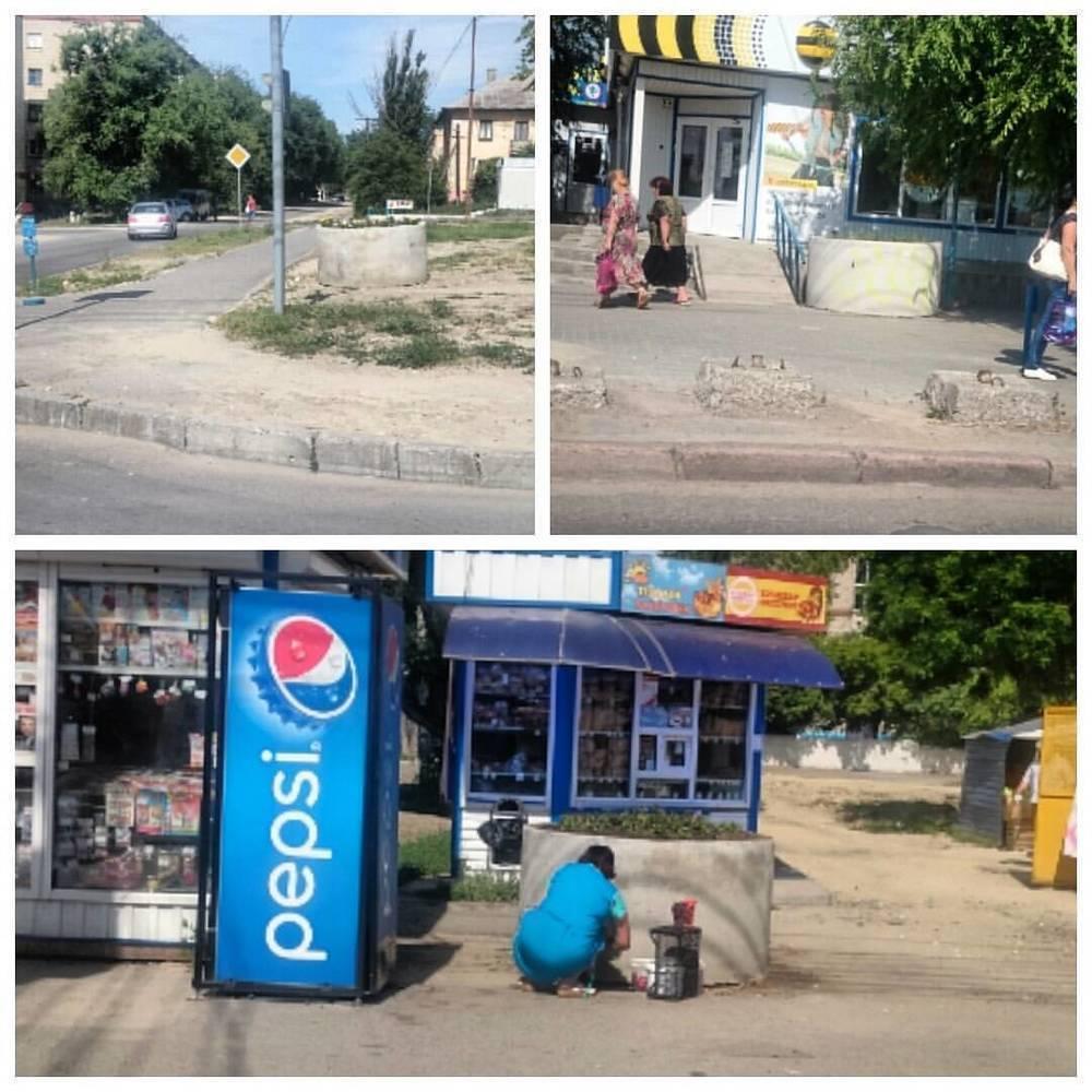 В Волгограде в преддверии выборов появились странные бетонные клумбы
