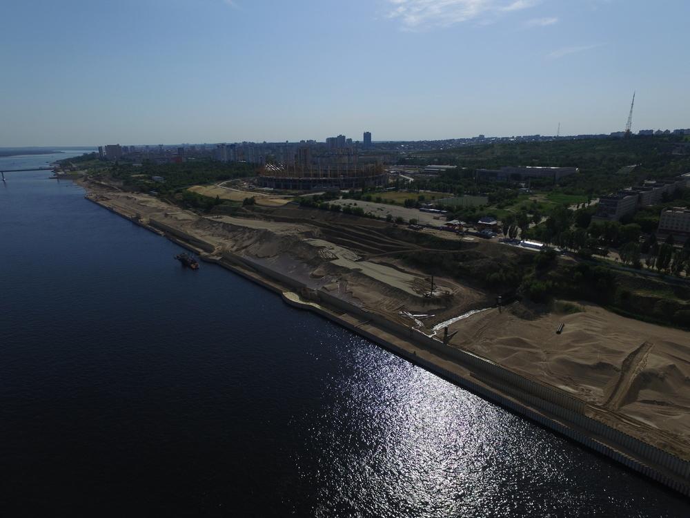 В Волгограде правый берег Волги укреплен на 53%