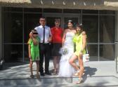Молодожены Вероника и Иван со своими родными