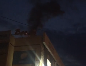 В Волжском снова полыхал торговый центр