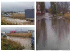 Потоп на Нижней Судоверфи попал на видео в Волгограде