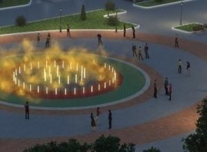 Светомузыкальный фонтан устанавливают на Мамаевом кургане Волгограда