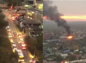 Волгоградцы сняли на видео, как автомобилисты не пускают пожарных к горящему дому