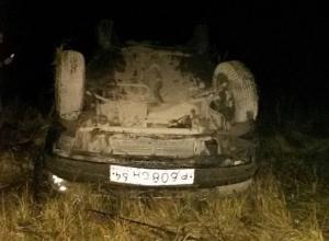 Пьяный водитель перевернул «Приору» на трассе Саратов - Волгоград, скрываясь от полицейских