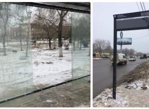 В Волгограде подсчитывают убытки новогодних праздников: вандалы разбили антивандальное стекло