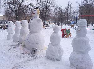 «Убийц» снеговиков вычисляют по записям видеокамер в Волгограде