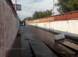 В Волгограде не могут запустить «скоростной трамвай»: рельсы оказались на два метра под водой