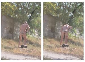 Аномальная жара выгнала волгоградца на улицу в стрингах