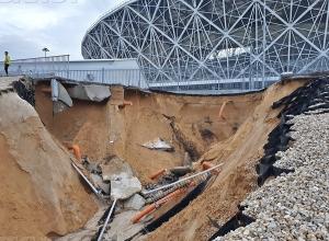 На стадионе «Волгоград Арена» не успеют ликвидировать последствия ливня к игре «Ротора»