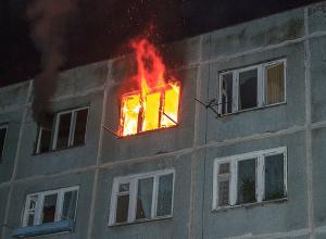 Волгоградка чудом выбралась из горящей многоэтажки в День защитника Отечества