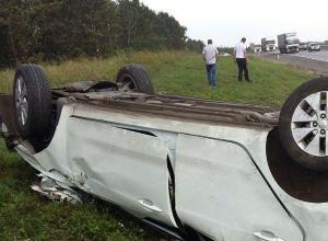 21-летний водитель без прав погиб в перевернувшейся Kia Rio в Волгоградской области