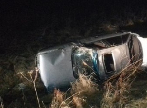 В Волгоградской области сразу пять машин улетели в кювет