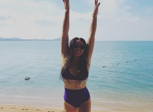 Ирина Дубцова продолжила тему груди и продемонстрировала новый купальник