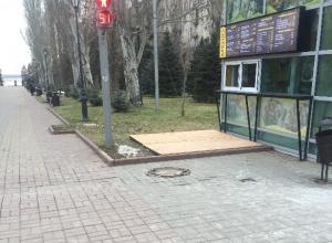 В центре Волгограда Аллею Героев забрали под нужды фаст-фуда