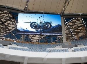 На стадионе «Волгоград Арена» установили два табло к ЧМ-2018