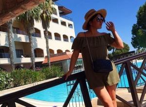 Волгоградка Ирина Дубцова наслаждается коротким отпуском в Турции
