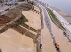 Появилось страшное видео разрушенной дождями набережной у «Волгоград Арены»