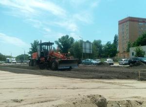В Волгограде завершают строить социальную парковку
