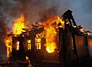 Мужчина заживо сгорел в своем доме в селе Липовка Волгоградской области