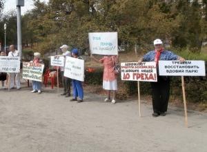 Волна митингов против уничтожения парка на Мамаевом кургане прошла по Волгограду