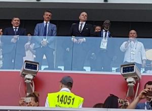 Президент ФИФА приехал на матч Нигерия - Исландия на стадион «Волгоград Арена»