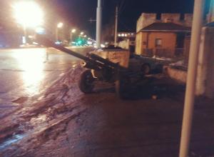 В Волгограде военные после салюта потеряли пушку ЗИС-3