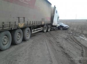 В тройном ДТП с фурой в Волгограде пострадали два человека