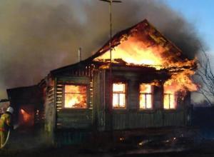В Волгоградской области на пожаре погиб молодой мужчина