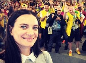 Беременная Елена Исинбаева выступила на Всемирном фестивале молодежи и студентов
