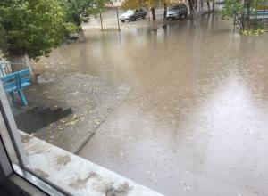 Водители и пешеходы ушли в глубокие заплывы на дорогах Волгограда