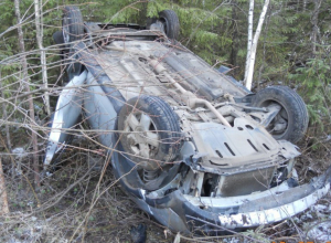 Трое пассажиров пострадали в перевернувшемся Renault Sandero в Волгоградской области