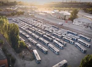 Кладбище волгоградских троллейбусов сняли с высоты птичьего полета