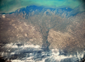 19 октября космонавт с орбиты Земли сфотографировал дельту Волги