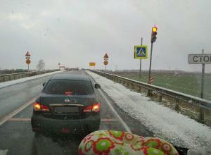 Волгоградцы поздравляют жителей Москвы с первым снегом