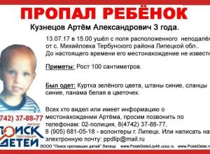 Трехлетнего мальчика из Липецкой области ищут в Волгограде