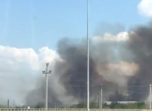 Крупный ландшафтный пожар на западе Волгограда попал на видео