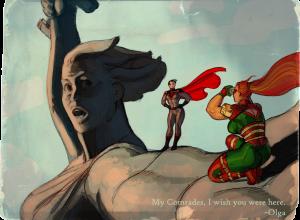 Художник из США посадил на «Родину-мать» супергероев DC и Marvel