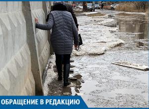 Волгоградцы сняли на видео полосу препятствий возле больницы №24