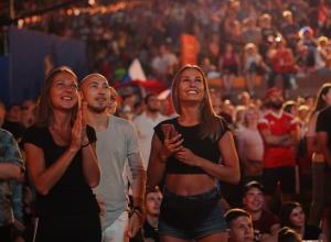 42 тысячи волгоградцев собрались в зоне фанфеста на матч Россия-Хорватия