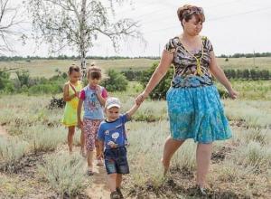 Многодетным семьям Волгограда отдали под строительство домов участки земли без коммуникаций